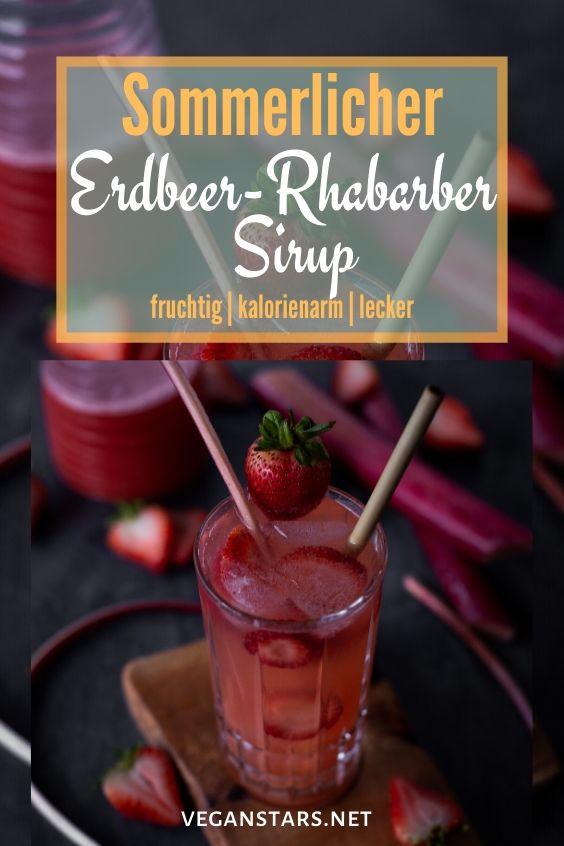 Gesunder Erdbeer-Rhabarber Sirup