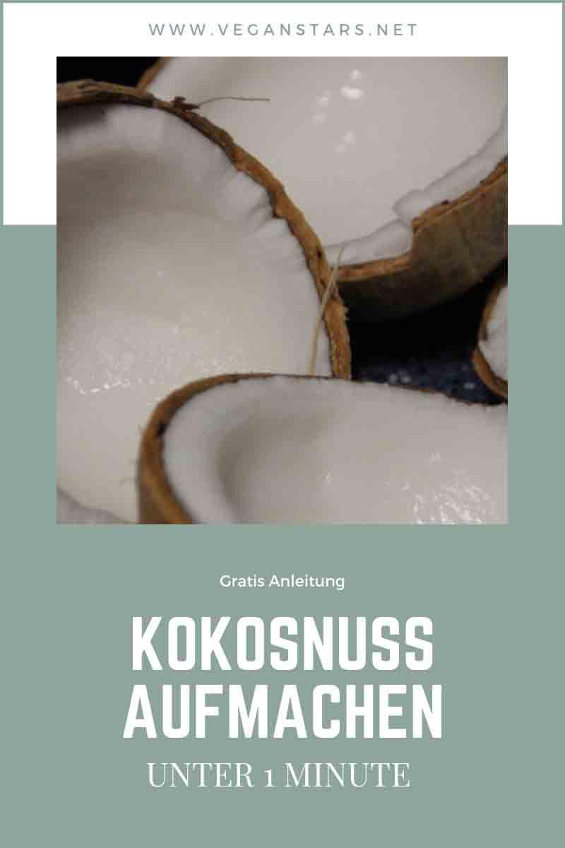kokosnuss aufmachen