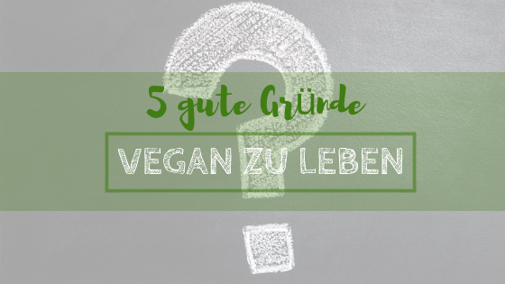 5 gute Gründe vegan zu leben
