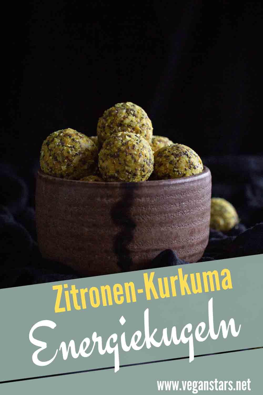 Zitronen-Kurkuma Energiekugeln