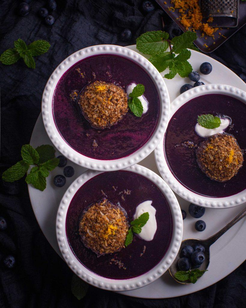 Vegane Schwedische Blaubeersuppe