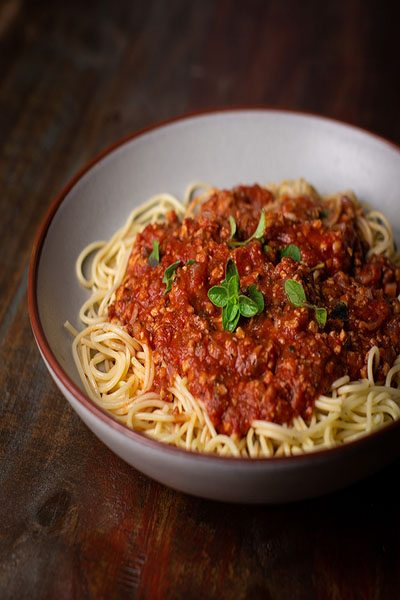 Spaghetti Bolognese (vegan)