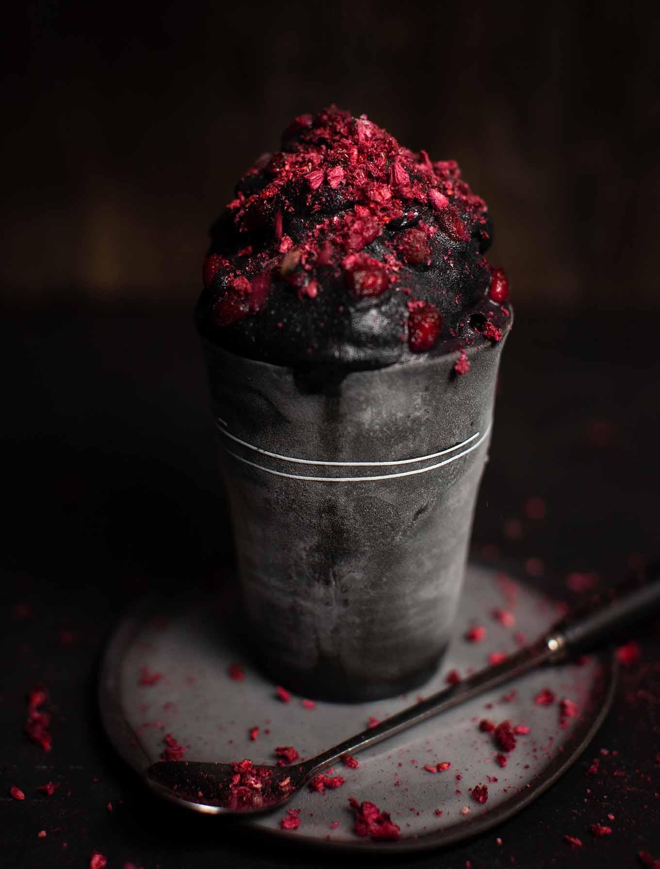 Charcoal Raspberry Nicecream