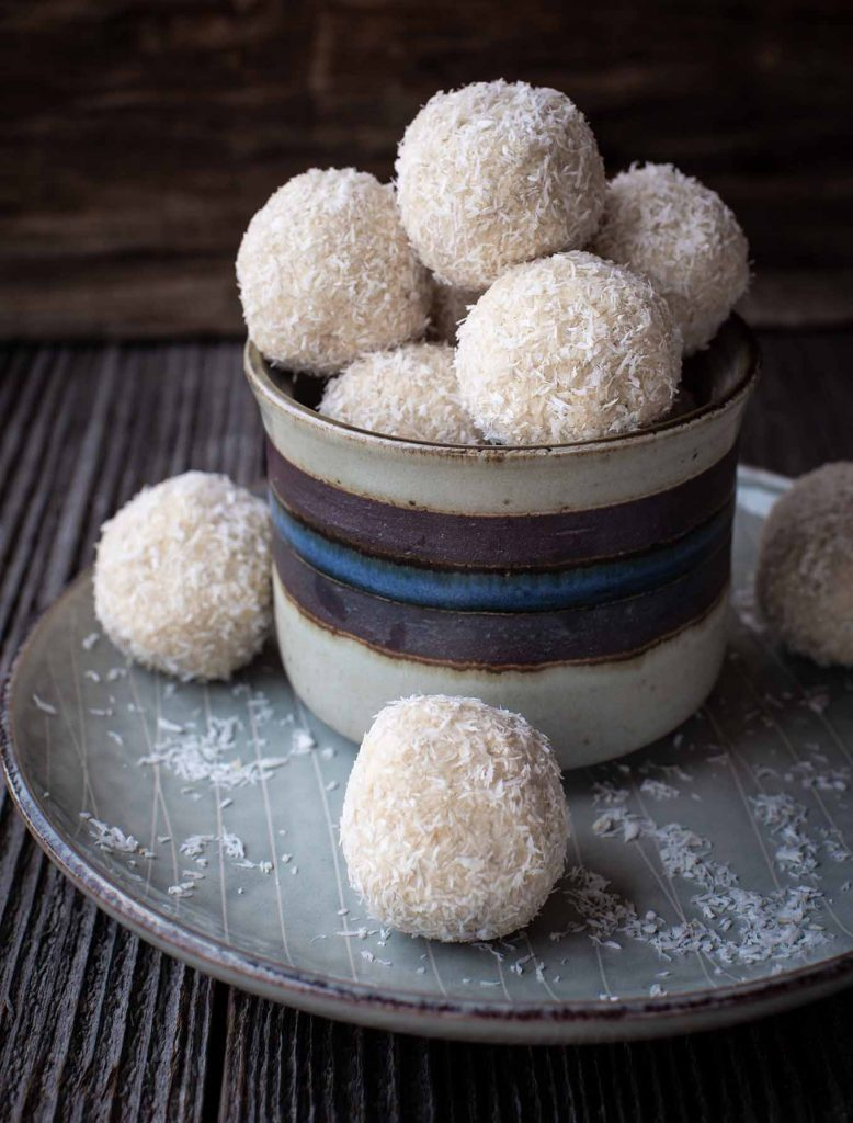 No Bake Coconut Snowballs