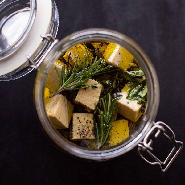 Vegane Feta Käse Alternative