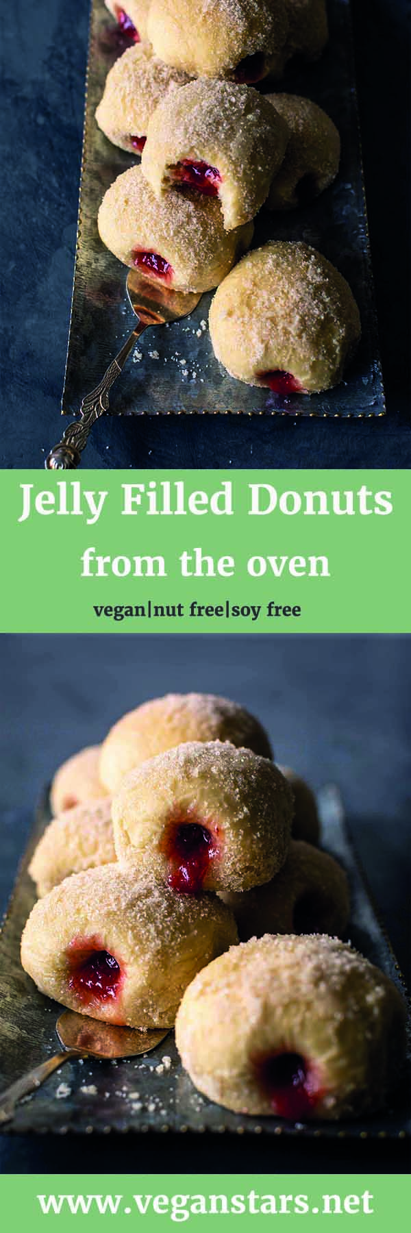 Vegan Jelly Filled Donuts
