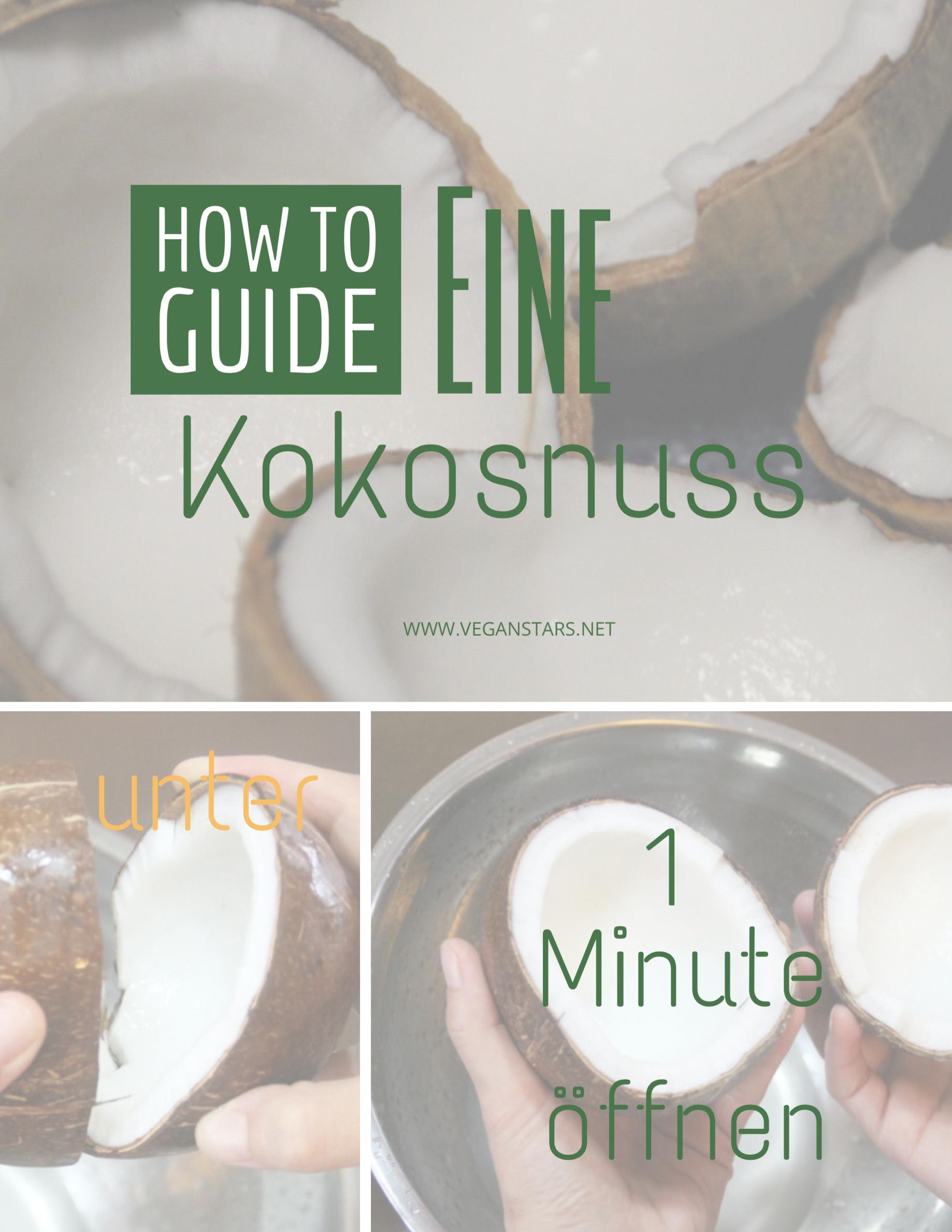 Wie man eine Kokosnuss öffnet