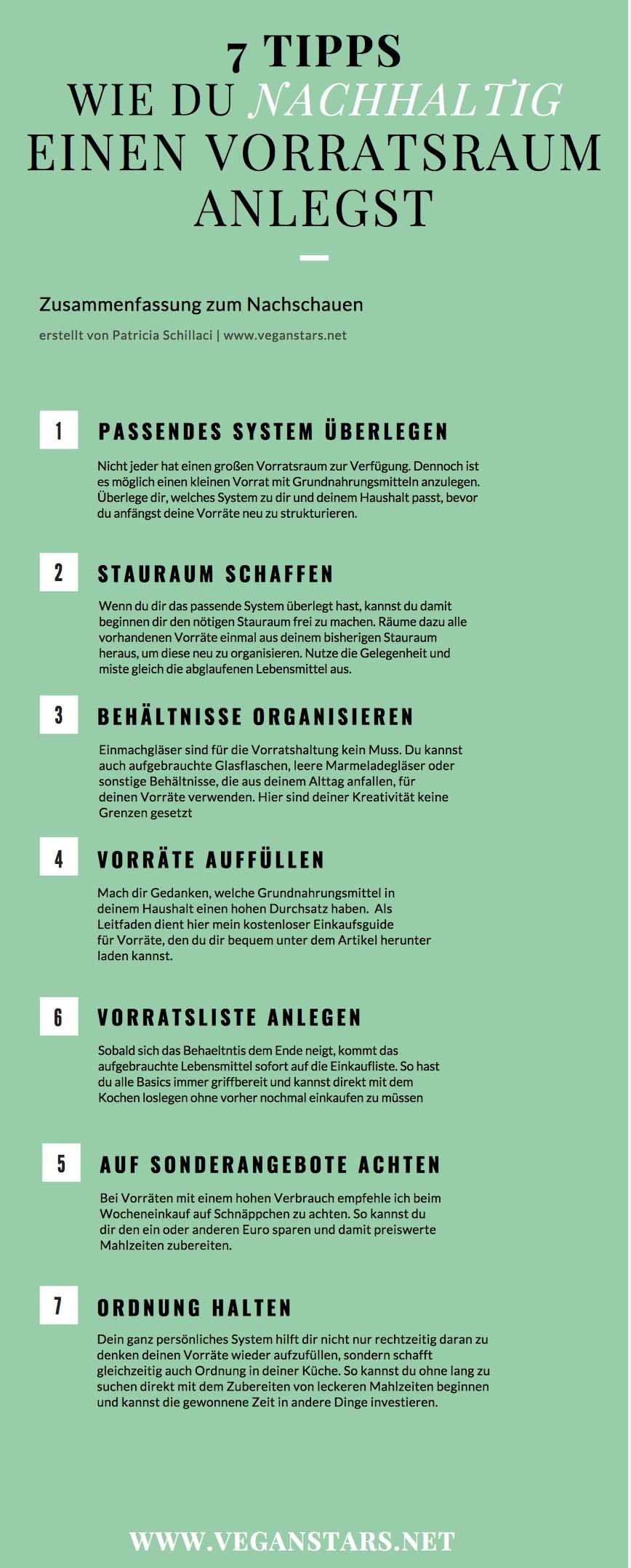 7 gute Gründe für einen Vorratsraum