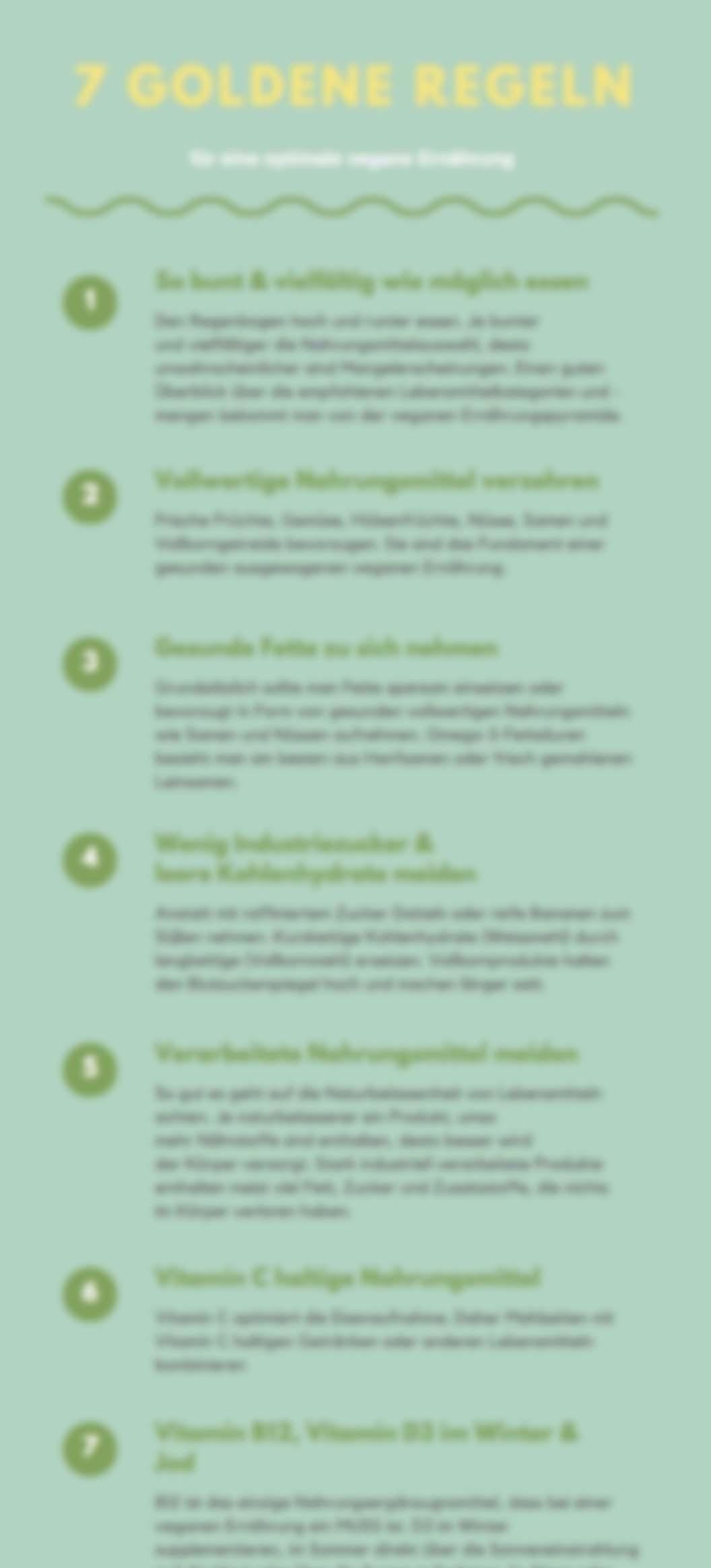 7 goldene Regeln für eine optimale vegane Ernährung