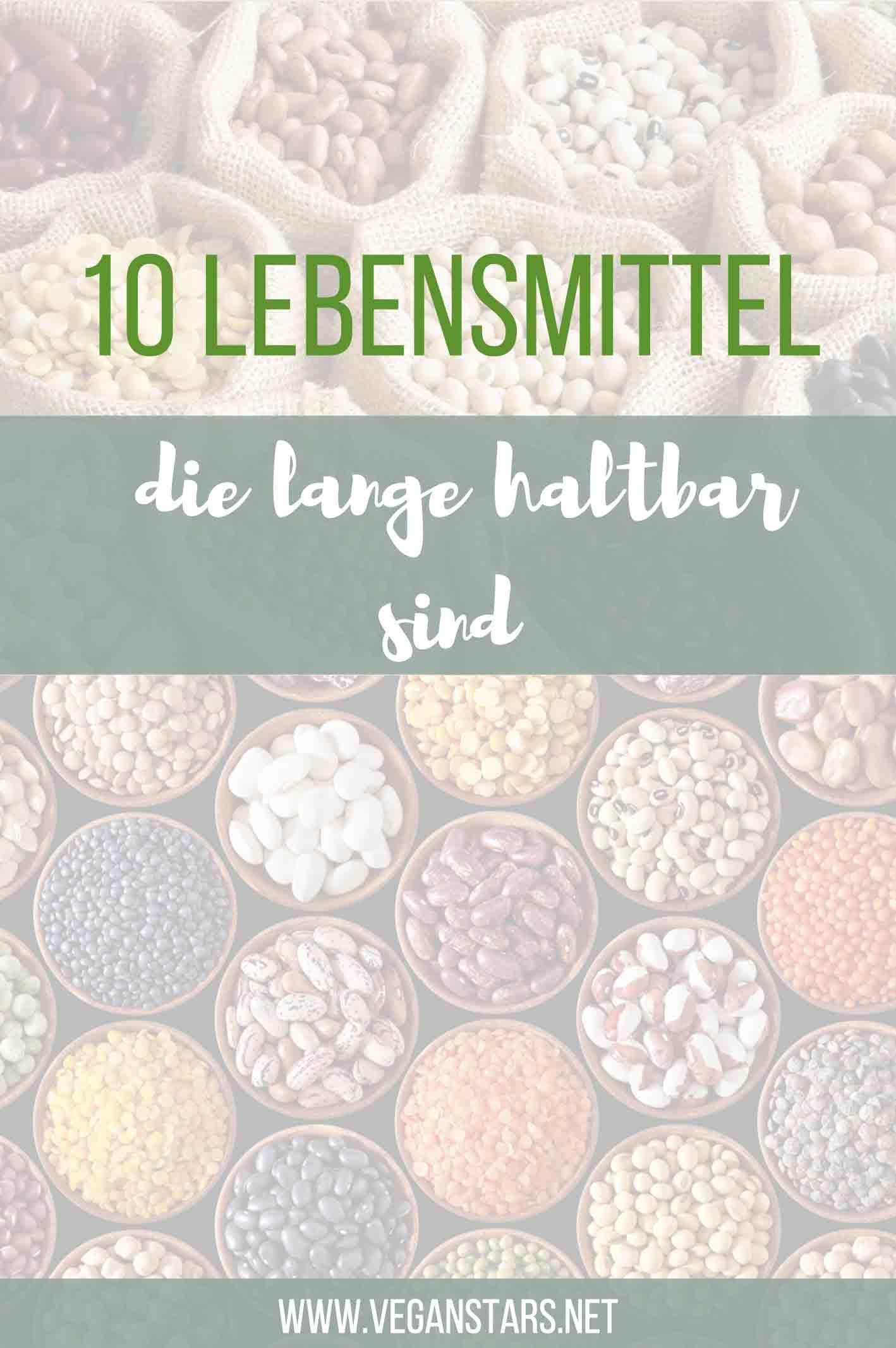 10 Lebensmittel, die lange haltbar sind
