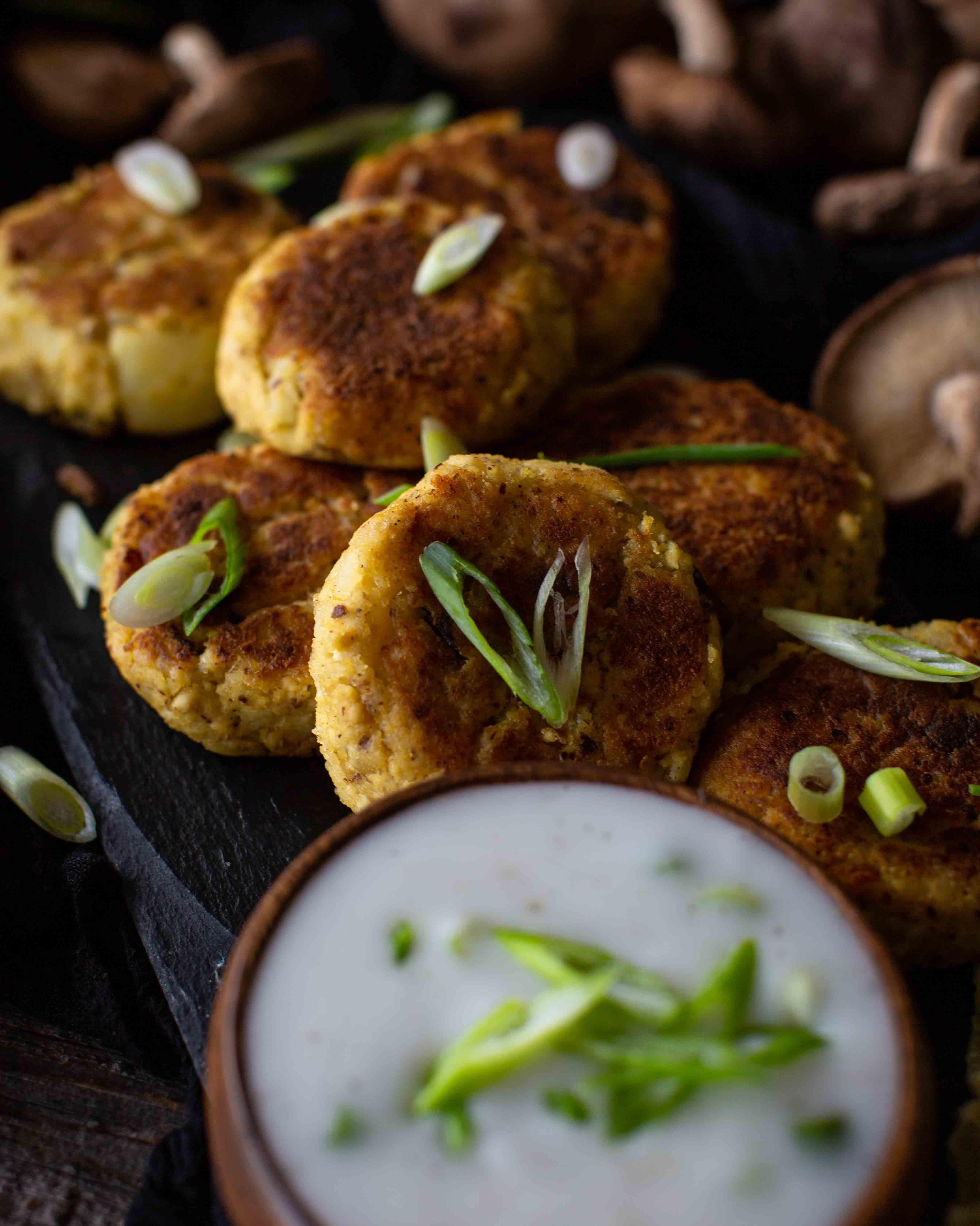 Tofu Kartoffel Laibchen mit 3 Zutaten