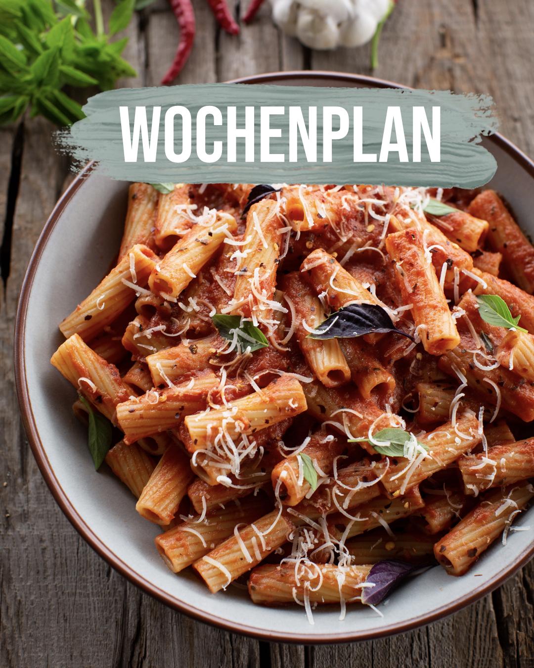 Pflanzliche Gerichte: Wochenplan KW10