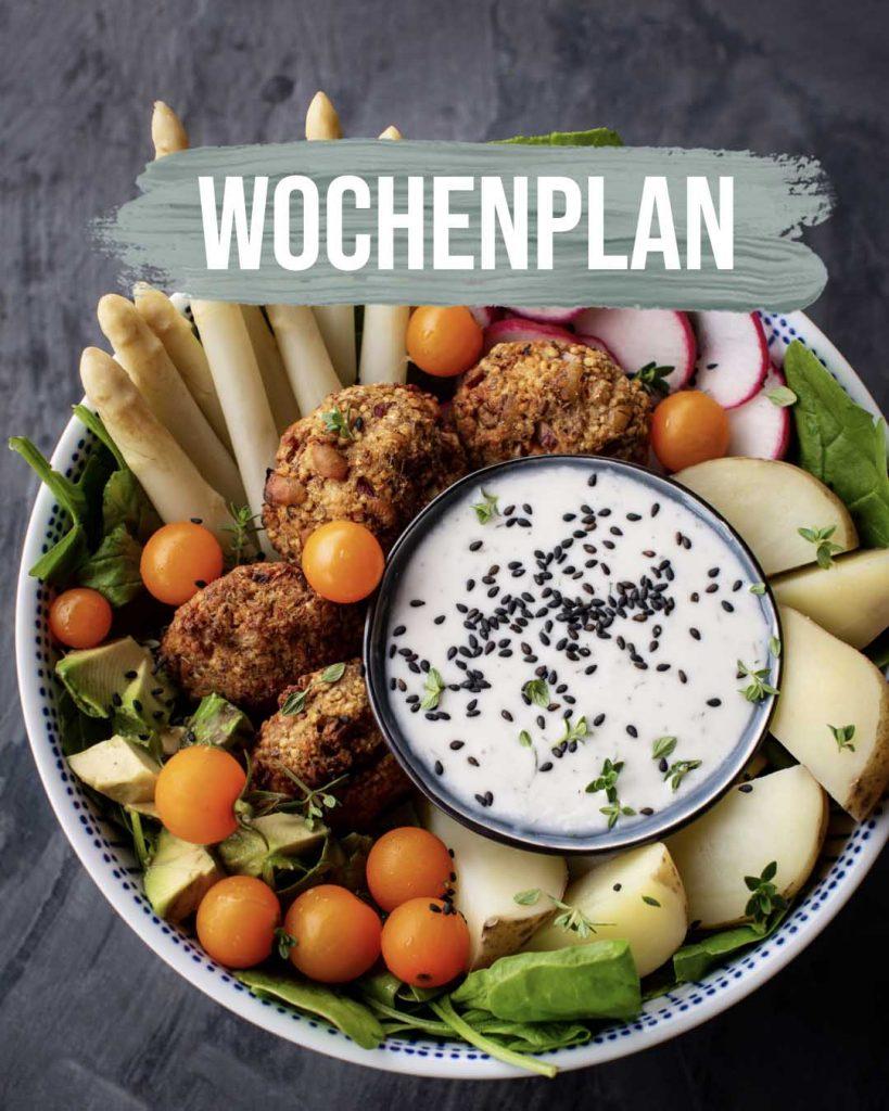 Pflanzliche Gerichte: Wochenplan KW21
