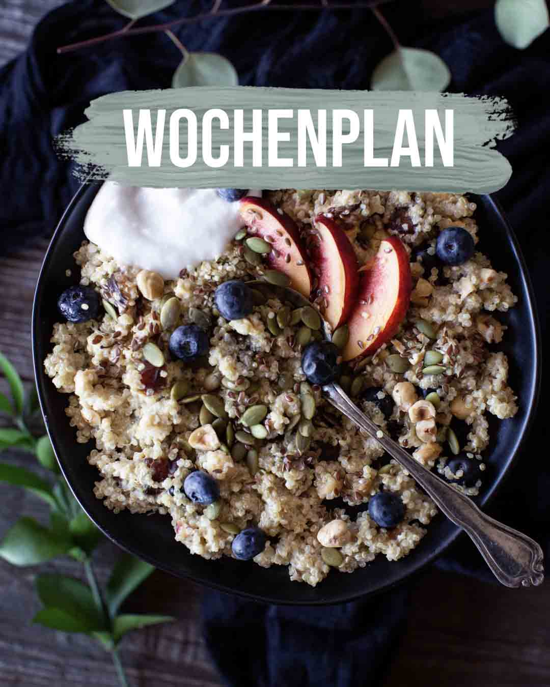 Pflanzliche Gerichte: Wochenplan KW12
