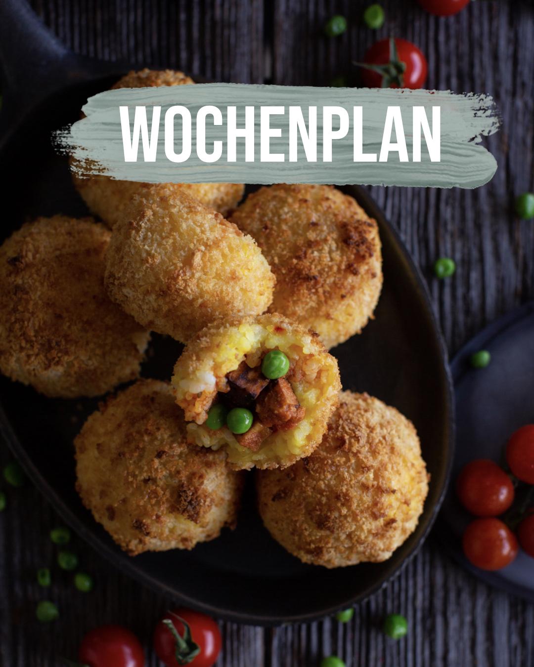Pflanzliche Gerichte: Wochenplan KW14