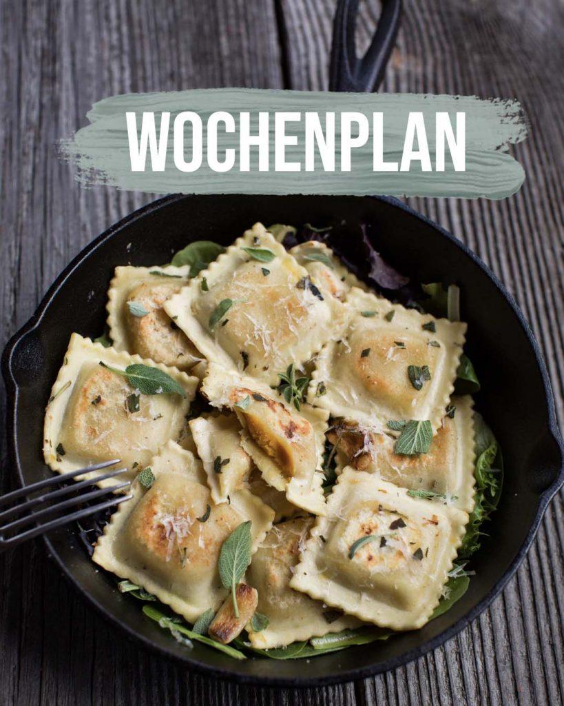 Pflanzliche Gerichte: Wochenplan KW20
