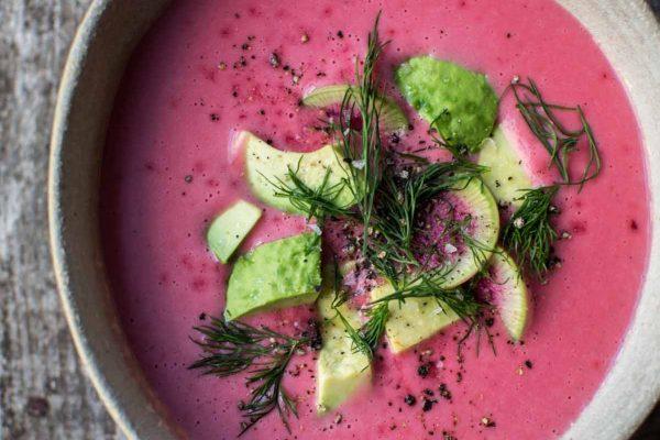 pink potato soup